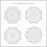 Fundo da circular da flor Um desenho estilizado mandala Ornamento estilizado do laço Ornamento floral indiano Fotografia de Stock Royalty Free