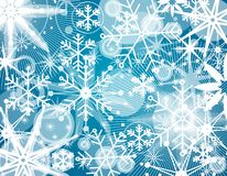 Fundo da colagem do floco de neve Fotos de Stock