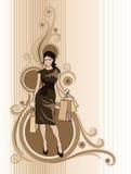 Fundo da compra ilustração royalty free