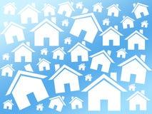Fundo da compra das casas Ilustração Stock