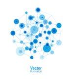Fundo da conexão de Digitas ilustração do vetor