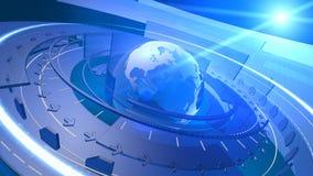 Fundo da conexão de rede de Digitas do globo do mundo Imagem de Stock