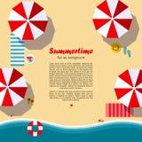 Fundo da configuração do plano do verão Imagens de Stock