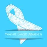 Fundo da conscientização do câncer da próstata ilustração do vetor