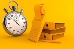 Fundo da contabilidade com cronômetro ilustração do vetor