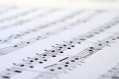 Fundo da contagem da música Imagem de Stock Royalty Free