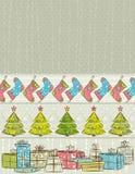 Fundo da cor com presentes de Natal,   Foto de Stock