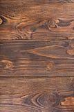 Fundo da cor de madeira do marrom escuro da textura Fotos de Stock