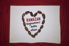 Fundo da cor de Ramadan Kareem Red fundo do feriado de Ramadan Kareem da decora??o Mubarak Islamic Feast Greetings Turkish: Ramaz fotos de stock royalty free