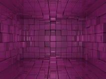 fundo da cor-de-rosa do mundo do cubo 3D ilustração royalty free