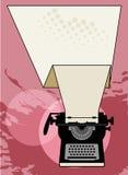 Sumário da máquina de escrever do vintage ilustração royalty free