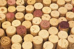 Fundo da cortiça do vinho Foto de Stock Royalty Free