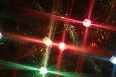 Fundo da decoração da luz de Natal Imagem de Stock