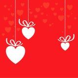 Fundo da decoração do coração Foto de Stock