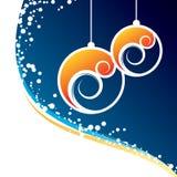 Fundo da decoração do Natal ilustração royalty free