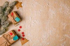 Fundo da decoração do Natal Fotografia de Stock
