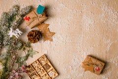 Fundo da decoração do Natal Foto de Stock