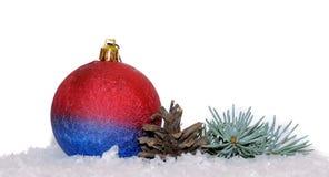 Fundo 2017 da decoração do Natal Fotografia de Stock Royalty Free
