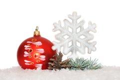 Fundo 2017 da decoração do Natal Fotos de Stock Royalty Free
