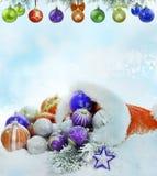 Fundo da decoração dos baubles do Natal Fotografia de Stock