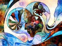 Fundo da divisão da cor ilustração do vetor