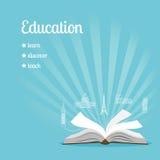 Fundo da educação com texto Fotos de Stock Royalty Free