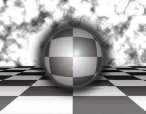 Fundo da esfera da xadrez ilustração do vetor