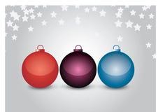 fundo da esfera do Natal do vetor 3d Foto de Stock