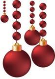 fundo da esfera do Natal do vetor 3d Fotografia de Stock