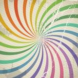 Fundo da espiral da cor do vintage ilustração do vetor