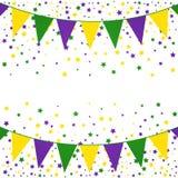 Fundo da estamenha de Mardi Gras com estrelas ilustração royalty free