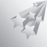 fundo da estrela com sombra Imagens de Stock