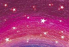 Fundo da estrela da cor cor-de-rosa Foto de Stock