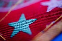 Fundo da estrela da tela Fotografia de Stock Royalty Free