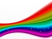 Fundo da estrela do arco-íris Ilustração do Vetor