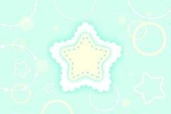 Fundo da estrela do inverno ilustração stock