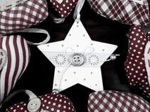 Fundo da estrela do White Christmas Fotografia de Stock Royalty Free