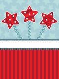 Fundo da estrela vermelha e azul ilustração royalty free