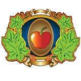Fundo da etiqueta de Apple Imagem de Stock Royalty Free