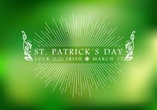 Fundo da etiqueta do vintage do dia do St Patricks ilustração do vetor