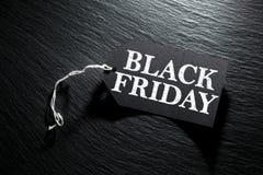 Fundo da etiqueta da venda de Black Friday Imagem de Stock