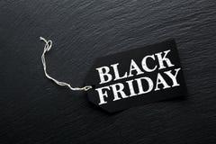 Fundo da etiqueta da venda de Black Friday Imagens de Stock