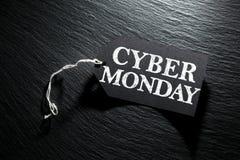 Fundo da etiqueta da venda de segunda-feira do Cyber Foto de Stock Royalty Free