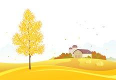 Fundo da exploração agrícola do outono ilustração stock