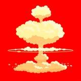 Fundo da explosão da bomba nuclear Fotos de Stock Royalty Free