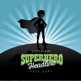 Fundo da explosão do super-herói do menino Fotografia de Stock
