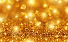 Fundo da faísca do ouro Foto de Stock