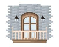 Fundo da fachada da porta de entrada do vetor do vintage ilustração royalty free
