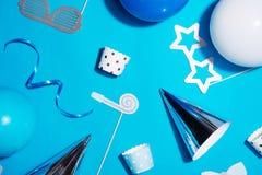 Fundo da festa de anos Conceito da celebração Configuração lisa Imagens de Stock Royalty Free