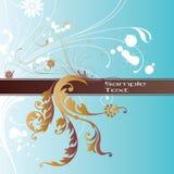 Fundo da flor com frame Fotografia de Stock Royalty Free